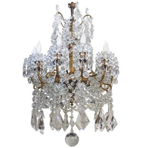 Neoclassical Style Crystal Chandelier By Baccarat And Baccarat Chandeliers