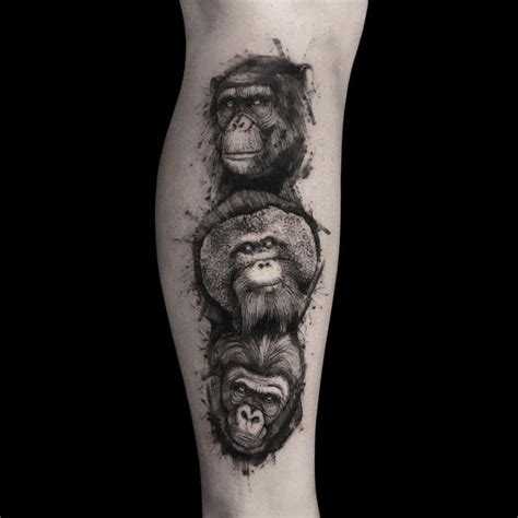 monkey tattoos for men pin by villegas on tattoos posts