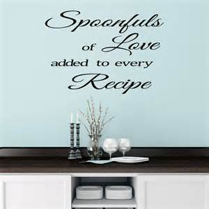 Kitchen Wall Stickers Kitchen Wall Sticker Quote By Mirrorin