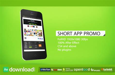 Short App Promo Free Download After Effects Project Free After Effects Template Videohive After Effects App Template