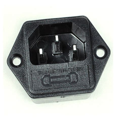 pin type l holder ac inlet power socket 3 pole with 5 20mm fuse holder ebay