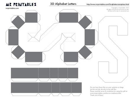 3d number templates eugenia katia artes de letras personalizadas e