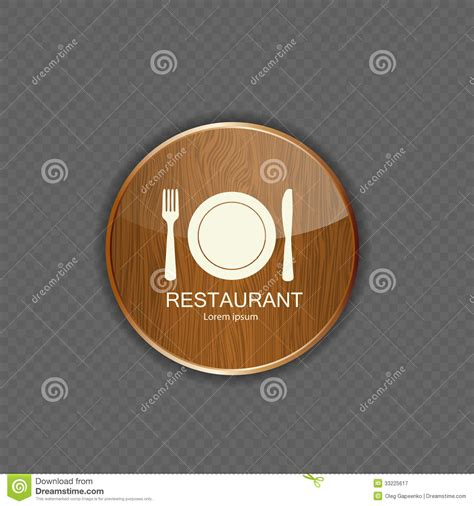 eps format application food and drink wood application icons royalty free stock