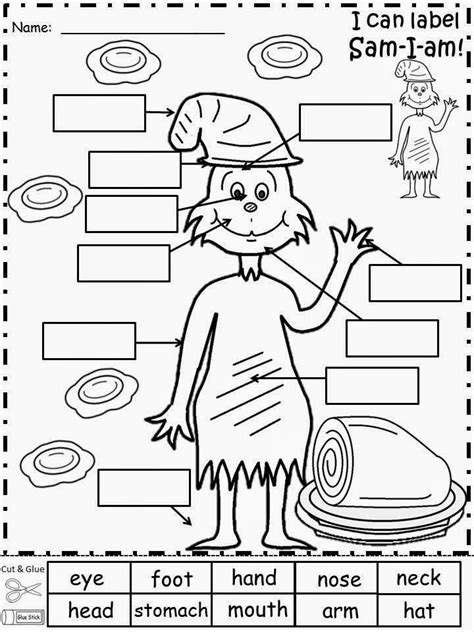 dr seuss printable activity sheets dr seuss kindergarten worksheets worksheets