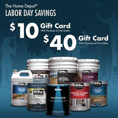 home depot behr paint gift card deal shopportunist