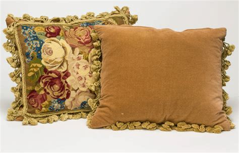 Needlework Pillows by Pair Of Needlepoint Pillows At 1stdibs