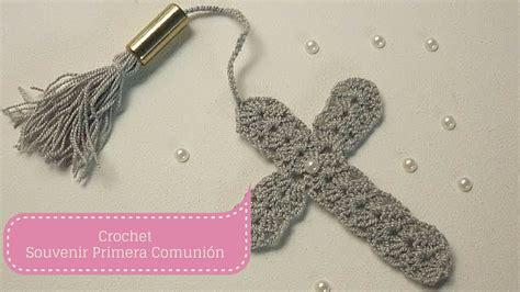 cruz artesanal a crochet paso a paso youtube manualidades souvenir de primera comuni 243 n crochet diy