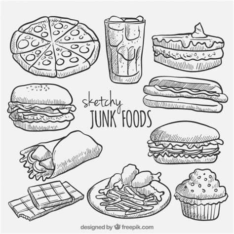 sketch free sketches fast food collection vector free