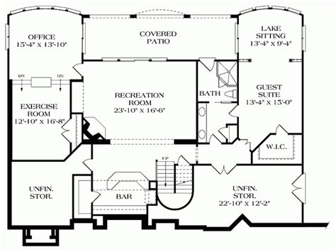 view home plans house designs rear views home deco plans