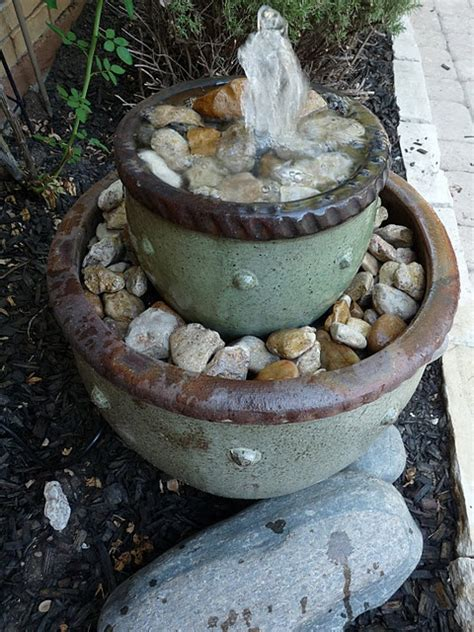 diy backyard fountain diy flower pot fountain garden fountains water features