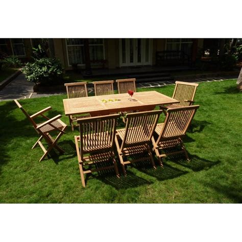 ensemble lombok 8 places teck brut de jardin table