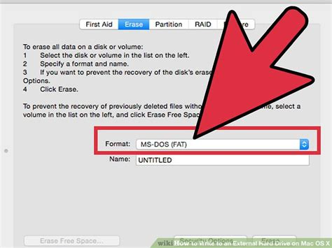completely format external hard drive mac how to write to an external hard drive on mac os x 15 steps