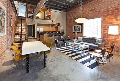 industrial style loft industrial style loft design with nested study room decoist