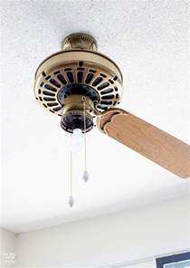 How To Paint Ceiling Fan Blades How To Paint A Ceiling Fan Without Taking It In My