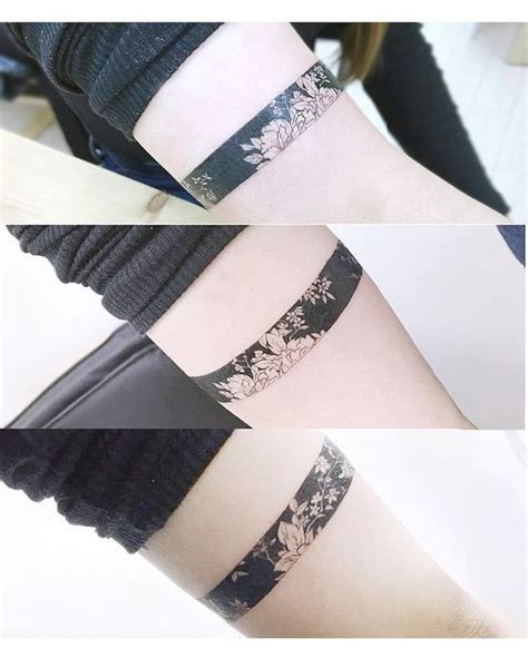 tattoo flower band 30 beautiful black and white flower tattoos for women