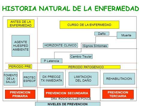 cadena epidemiologica historia natural dela enfermedad historia natural de la enfermedad y niveles de prevencion