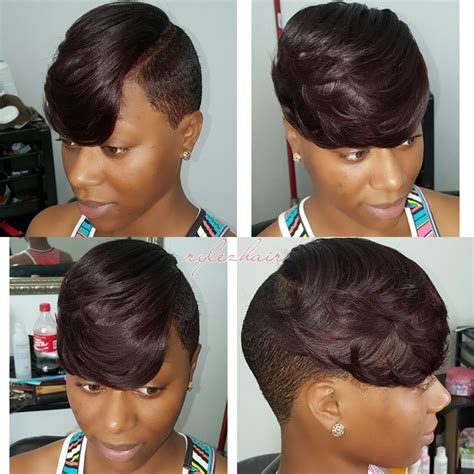 partial sew in hairstyles for synthetic hair partial sew in on short hair by rylezhair atlstylist 404