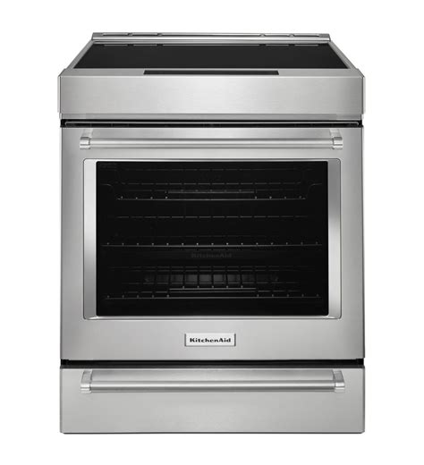 kitchenaid induction kitchenaid 174 30 inch 4 element induction convection front range with baking drawer