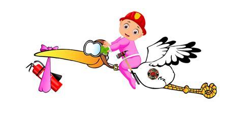 Feuerwehr Aufkleber Transparent by Baby Storch Sticker Feuerwehrfrau M 228 Dchen In Rosa Windel