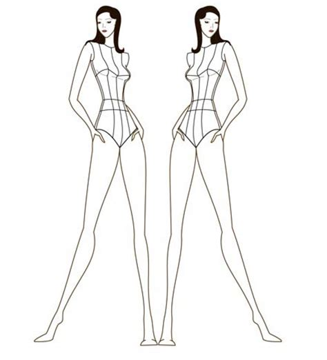 pin fashion sketch body outline on pinterest