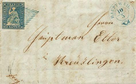 grid pattern vertaling swizterland 1854 62 federal post 10 rp blue thin paper
