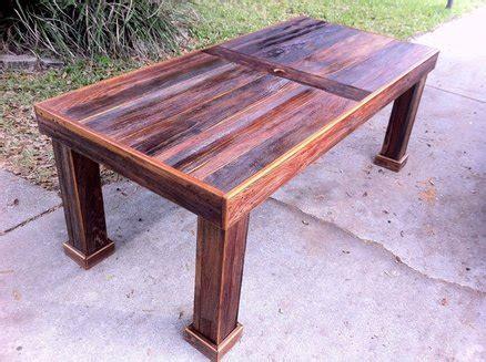 reclaimed cypress patio table  stephenschaad