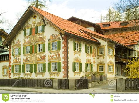 images home painted house in bavaria stock image image 4515051