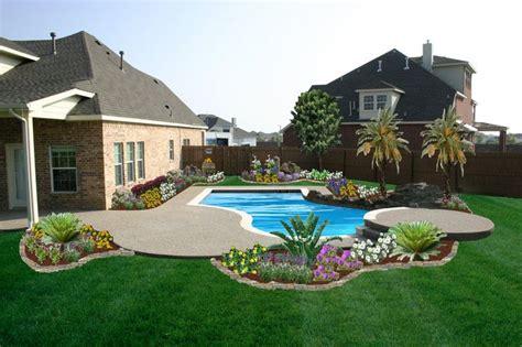 small backyard pools  grass  pool