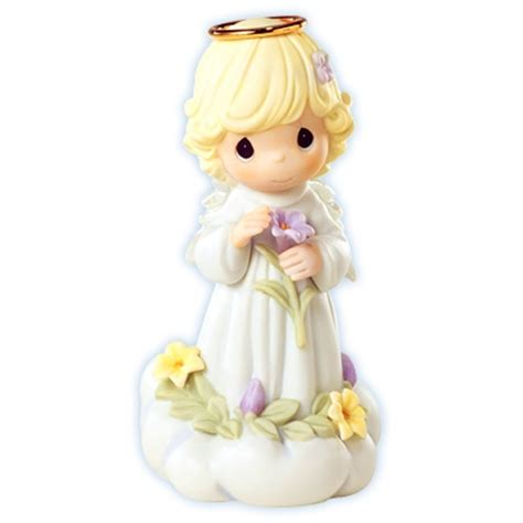angel  lily precious moments figurine