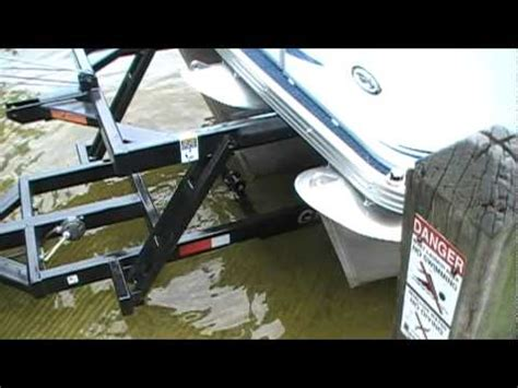tritoon boat trailer loading guides tritoon trailer demo mpg youtube
