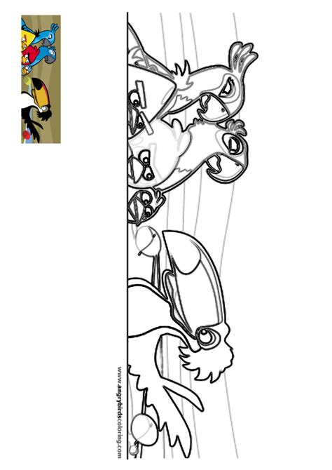 angry birds rio coloring pages free angry birds rio coloring pages