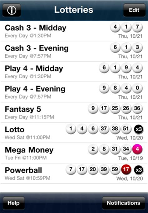 Florida Lottery Past 3 Winning Numbers On A Calendar Lottosuite Florida Lottery Results App For Iphone