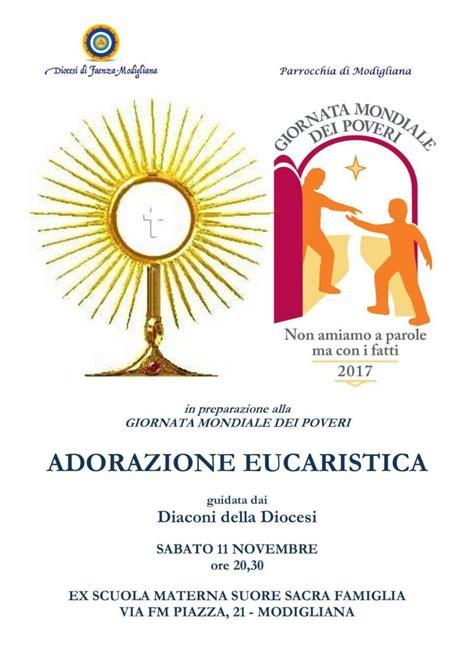 testi adorazione eucaristica giornata dei poveri adorazione eucaristica diocesi di