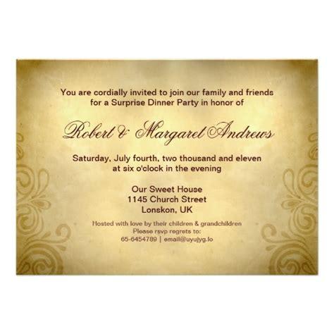 50th Wedding Invitation Cards by Fancy 50th Wedding Anniversary Invitation Card