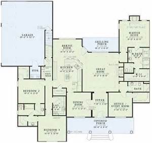 Southern Floor Plans by Southern Style House Plans 2556 Square Foot Home 1