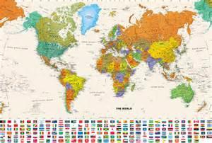 world map with country name and flag 191 cu 225 ntos pa 237 ses hay en el mundo animal de ruta