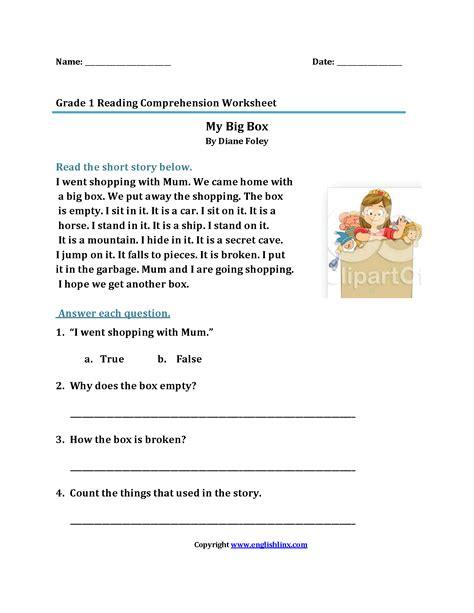 Wedding Box Reading by Worksheet Grade Reading Comprehension Worksheet