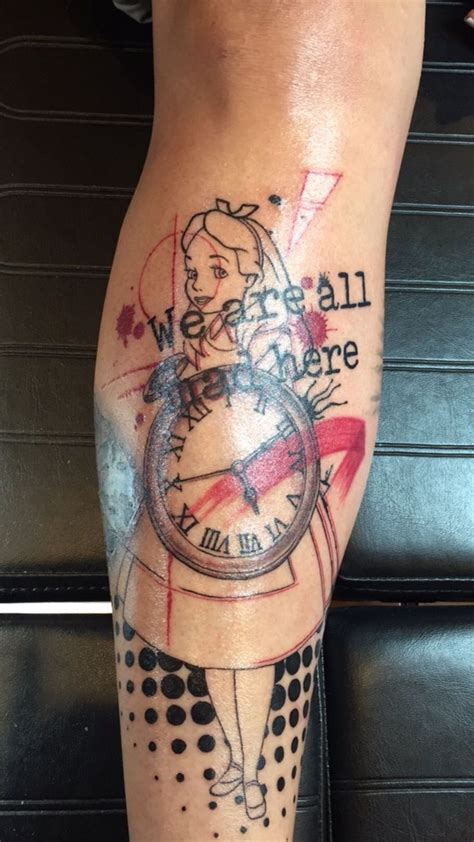 trash polka tattoo alice in wonderland trash polka