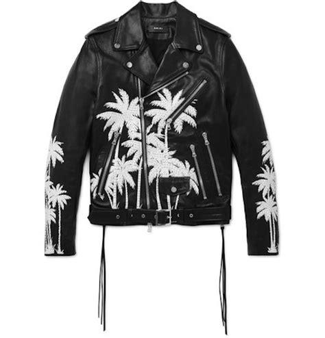 most wanted amiri embellished leather biker jacket