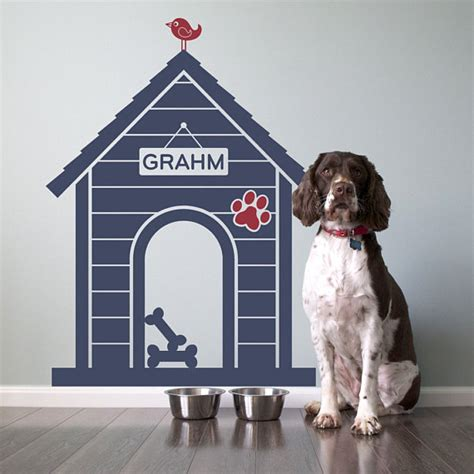 modern indoor dog house modern indoor dog house wall decal personalized by graphicspaces