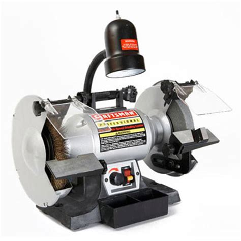 craftsman 6in bench grinder our editors test bench grinders for woodworkers craftsman