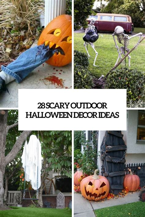 ideas outdoor halloween decoration ideas to make your 28 scary outdoor halloween d 233 cor ideas shelterness