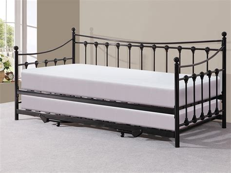 metal trundle bed frame black metal day bed with pull out trundle bed ebay