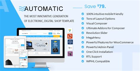 free wordpress themes computer store automatic v1 7 woocommerce theme for electronic