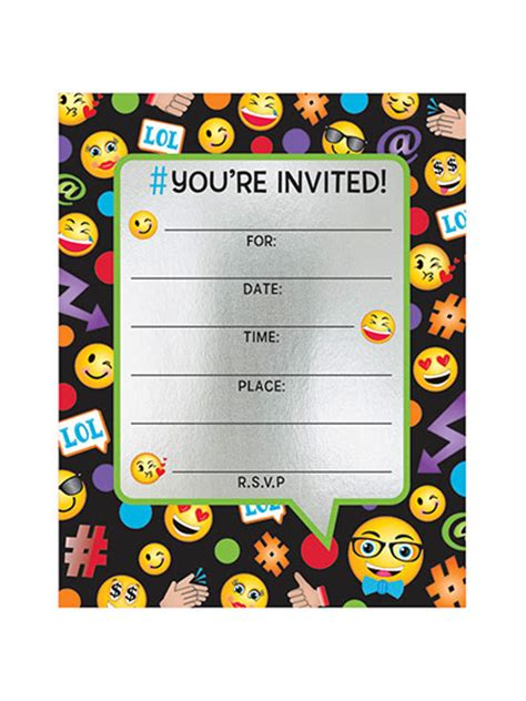 Emoji Invitation Template Songwol E37846403f96 Emoji Birthday Invitation Template
