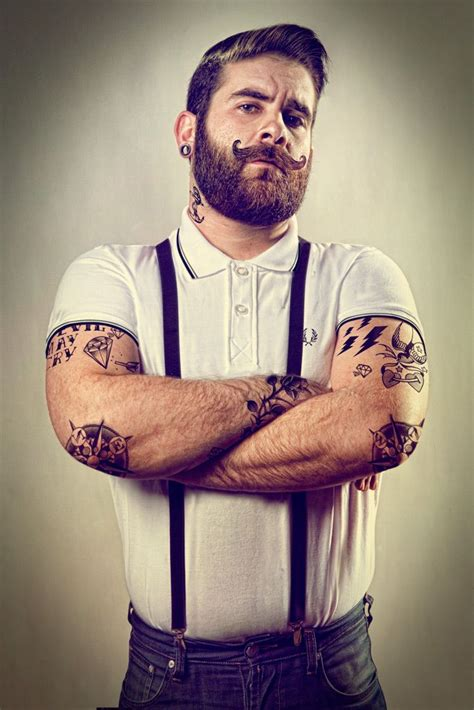 beard tattoo awesome mustache beards tattoos