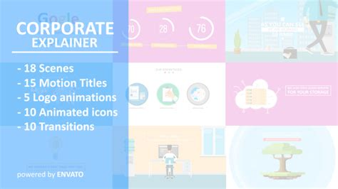 explainer video templates project for after effects videohive corporate explainer flat business promotion after