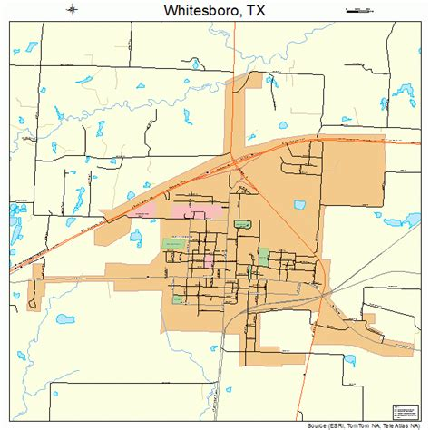 whitesboro texas map whitesboro texas map 4878532