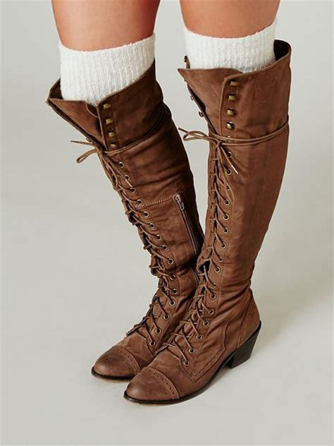 jeffrey cbell thigh high boots jeffrey cbell joe lace up boot in brown light brown