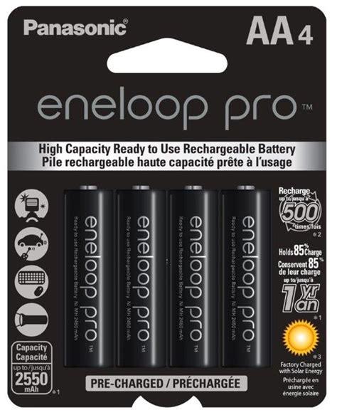 Baterai Panasonic Eneloop Pro 2550mah 4xaa Rechargeable Ni Mh Battery bk3hcca4ba pile rech ni mh aa 2550mah pana eneloop pro p 4 batteries expert